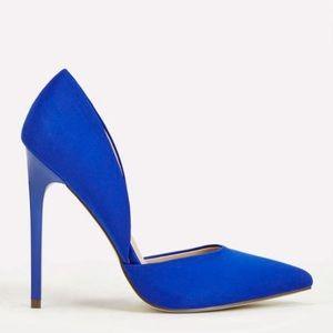 JustFab blue high heels - 7.5 US